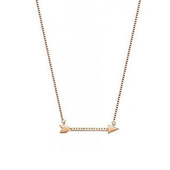 ESPRIT women's chain necklace stainless steel Rosé gold arrow ESNL03413C420