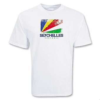 Seychellene fotball t-skjorte