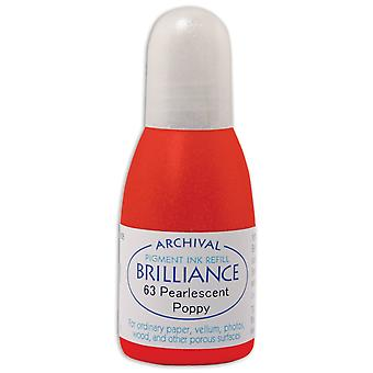 Brilliance Ink Refill .7oz-Pearlescent Poppy