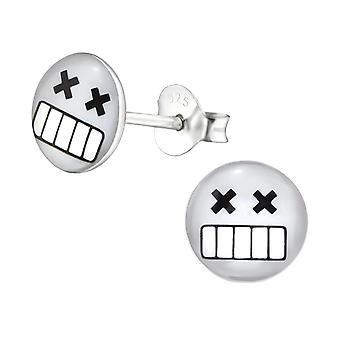 Dead - 925 Sterling Silver Colourful Ear Studs