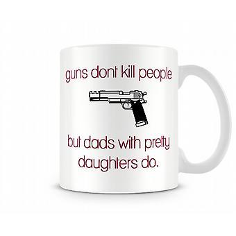 Guns Don't Kill People Printed Mug