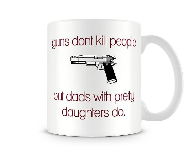 Guns Don't Kill People Printed Mug