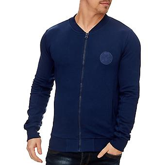 TAZZIO in the College style Navy Blue mens Sweatjacke