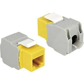 RJ45 module Keystone CAT 6 Delock 86345 Yellow