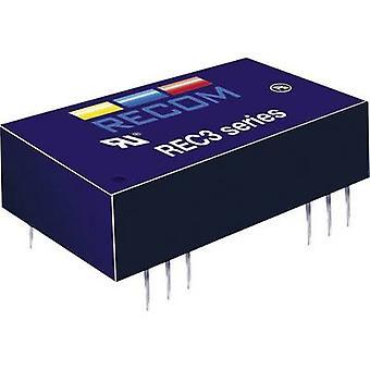 RECOM REC3-0505SRW/H4/C REC3-0505SRW/H4/C 3W DC/DC Converter REC3-0505SRW/H4/C 4.5 - 9 Vdc 5 Vdc 600 mA 3 W
