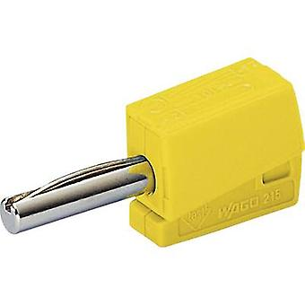 Jack plug Plug, straight Pin diameter: 4 mm Yellow WAGO 1 pc(s)