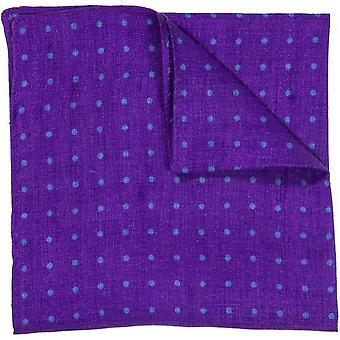 40 Colori Dotted Pocket Square - Purple/Petrol Blue
