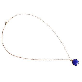 Onyx gemstone halsband blå Onyx guldpläterad halsband ladies halsband