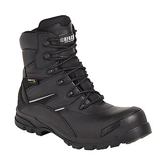 Black Leather Non Metallic Waterproof  Safety Boot