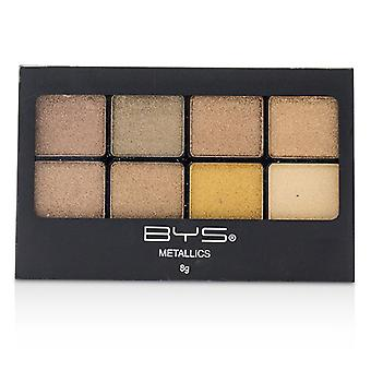 Bys 8 Palette Metallic Eyeshadow - # Metallics Browns - 8g/0.27oz