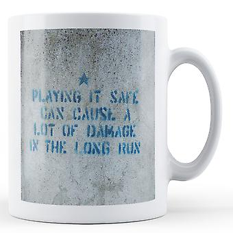 Banksy Printed Mug - Playing it Safe - BKM155
