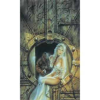 Luis Royo No.6 - Kunstdruck  Poster Girl with monster in background Kleinformat