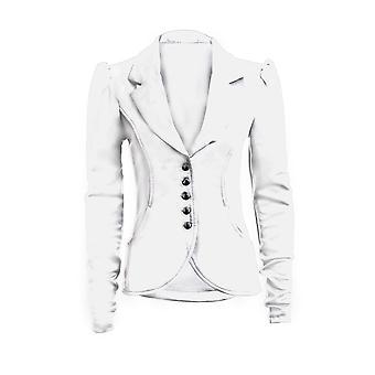 Nowe damskie długie 5 przycisk rękaw Slim Fit Smart Pocket kobiet Blazer