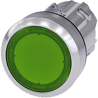 Pushbutton Planar, Front ring (steel), Glossy Green Siemens SIRIUS ACT 3SU1051-0AB40-0AA0 1 pc(s)