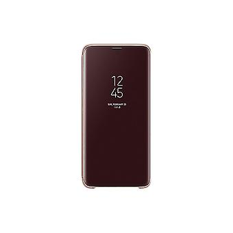 Samsung Galaxy S9 Plus Clear View Standing Cover - Guld