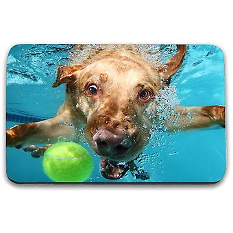 i-Tronixs - Underwater Dog Printed Design Non-Slip Rectangular Mouse Mat for Office / Home / Gaming - 3