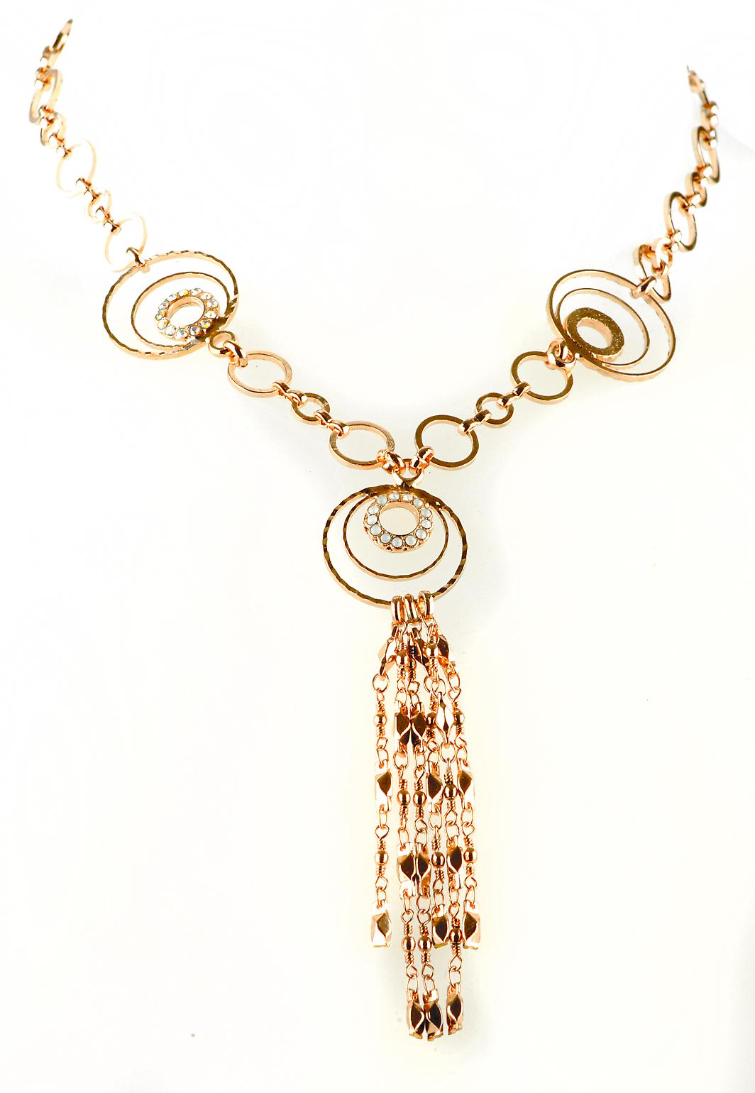 Waooh - jewelry - WJ0301 - necklace with Rhinestone Swarovski Style Diamond - chain color gold