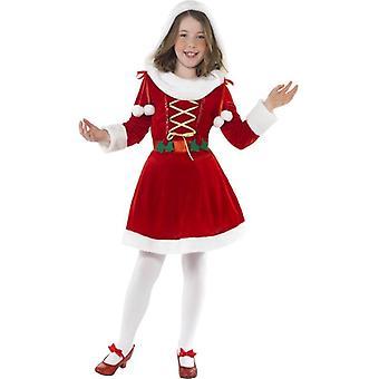 Little Miss Santa Costume, mezzo età 7-9