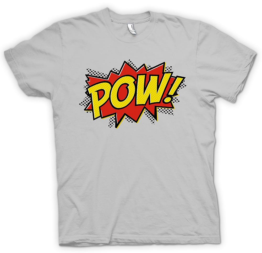 Mens t-shirt - Pow - comico divertente