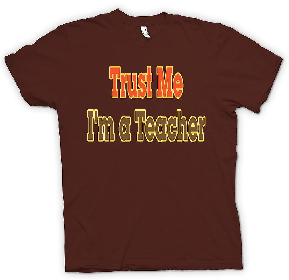 Mens t-skjorte - stol på meg jeg er lærer - tilbud
