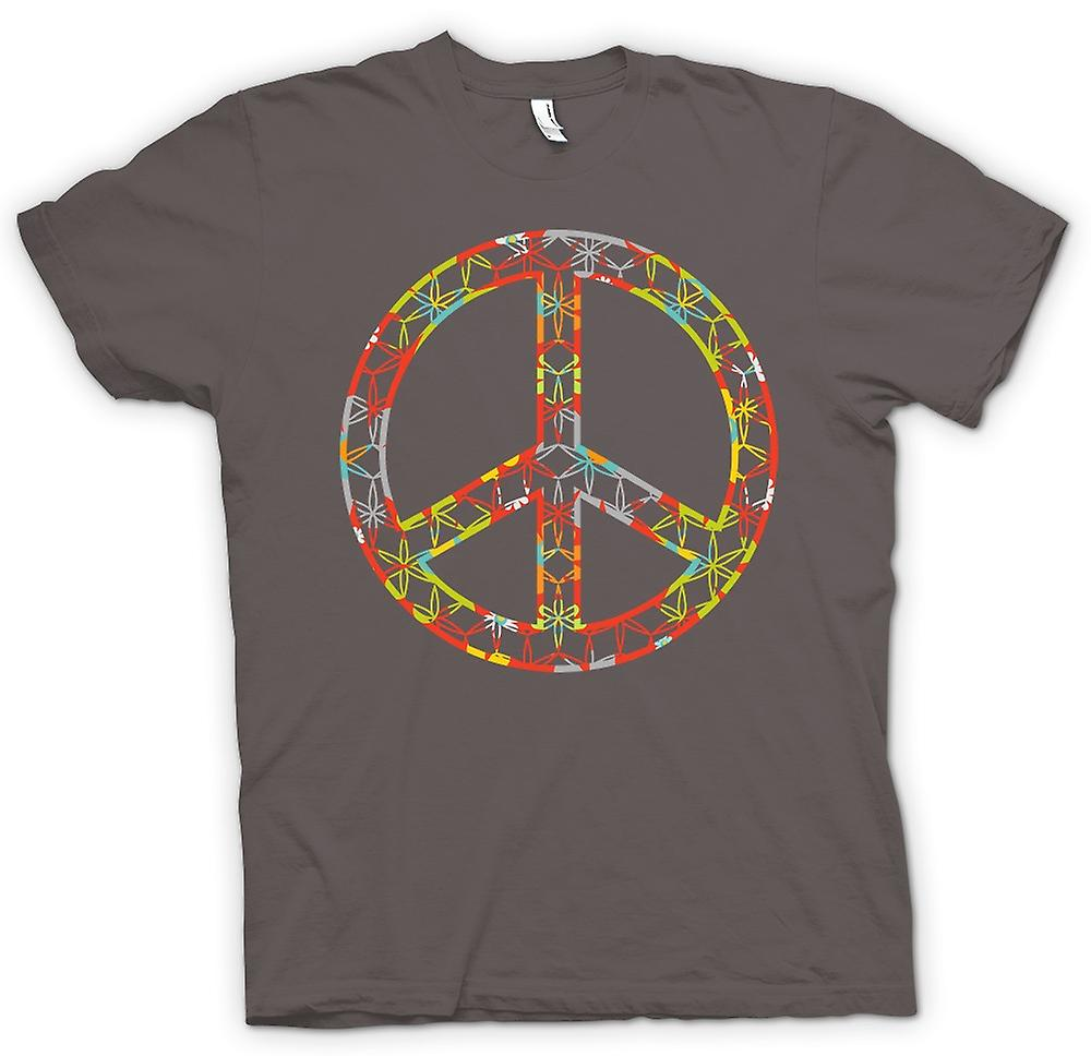 Womens T-shirt - Floral Peace Sign - CND