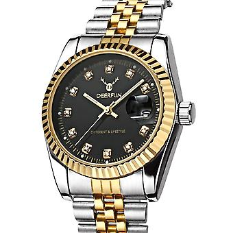Ladies Watch Gold Silver Women Woman Smart Watches Two Tone Black Present