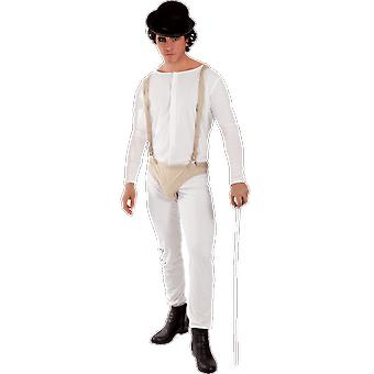 Mens Clockwork Orange Delinquent Man Horror Movie Halloween Fancy Dress