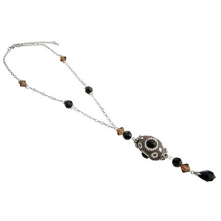 Artisan Hand Created Necklace w/ Swarovski Crystals Gift