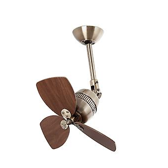 Faro - Vedra Small Antique Brass Ceiling Fan Without Light FARO33450