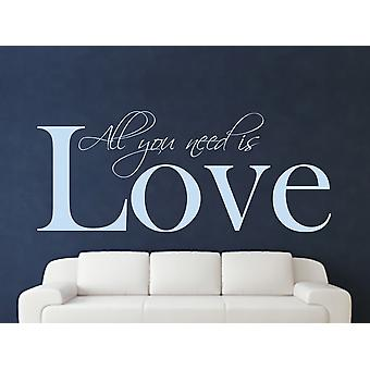 All You Need Wall Art Sticker - Pastel Blue