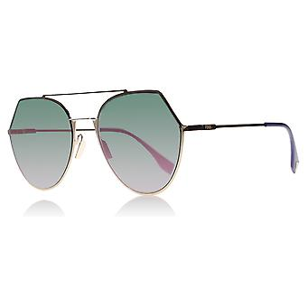 Fendi FF0194S DDB Gold Copper 0194S Round Sunglasses Lens Category 3 Lens Mirrored Size 55mm