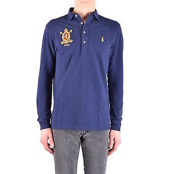 قميص بولو رالف لورين الأزرق القطن