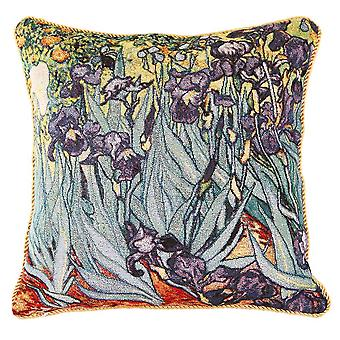 Van gogh - irises cushion cover by signare tapestry / 18in x 18in / ccov-art-vangogh-2