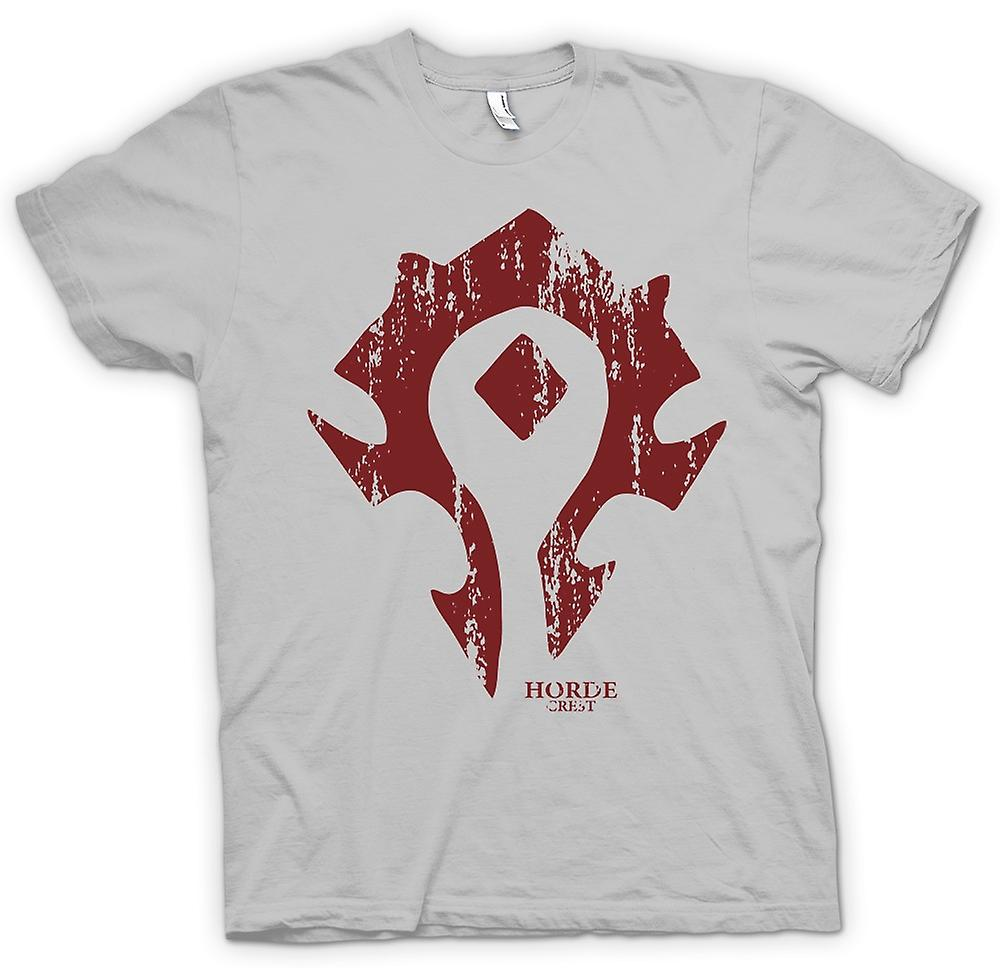 Herr T-shirt - Horde Crest Logo - World Of Warcraft inspirerad