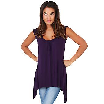 KRISP entspannt Fit Hip lange Weste Tunika Top