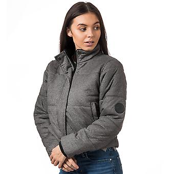 Womens Nicce Cropped Padded Jacket In Grey