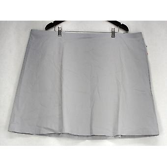 Alfani Plus Skirt Pull On A Line Back Zipper Pockets Gray Womens