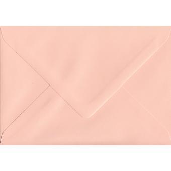 Salmon Pink Gummed Greeting Card Coloured Pink Envelopes. 100gsm FSC Sustainable Paper. 125mm x 175mm. Banker Style Envelope.