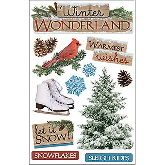 Papier huis 3 D Sticker Winter Wonderland Stdm91e