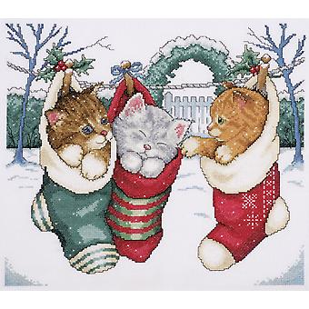 Cozy Kittens Counted Cross Stitch Kit 12