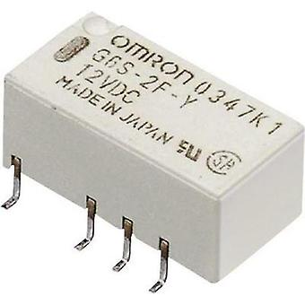 PCB relays 24 Vdc 2 A 2 change-overs Omron G6S-2F