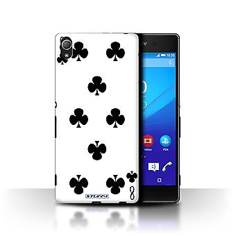 STUFF4 Case/Cover for Sony Xperia Z4/8 of Clubs/Playing Cards