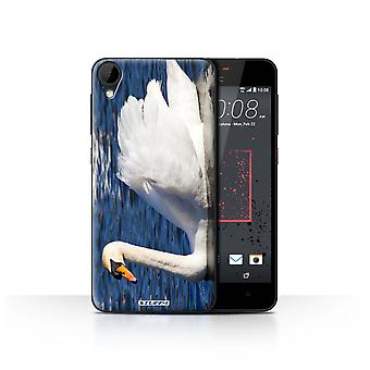 STUFF4 Case/Cover for HTC Desire 825/Swan/British Coast