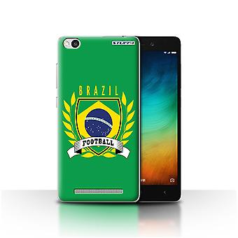 STUFF4 Case/Cover for Xiaomi Redmi 3/Brazil/Brazilian/Football Emblem