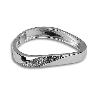 Nicole bejewelled silver bangle