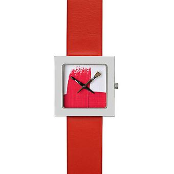 Akteo Red Paint Lady Kubik (5) (Fashion accesories , Watches , Analog)