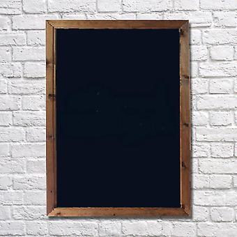 Wall Mounted A2 Chalkboard with Dark Oak Frame