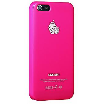 Ozaki OC537WT O! Coat fruit strawberry cover case iPhone 5 / 5S - Red