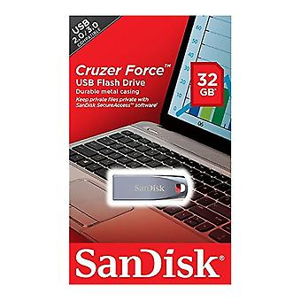 SanDisk 32GB Cruzer FORCE USB2 Flash Drive With Durable & Stylish Metal Casing.. - SDCZ71-032G-B35