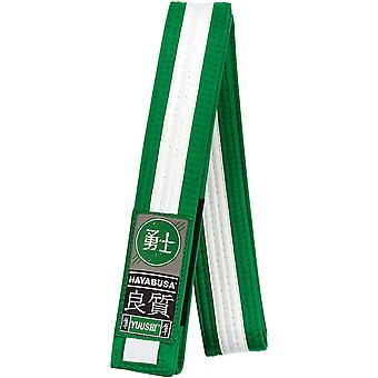 Hayabusa Youth Jiu-Jitsu Belt - Green/White